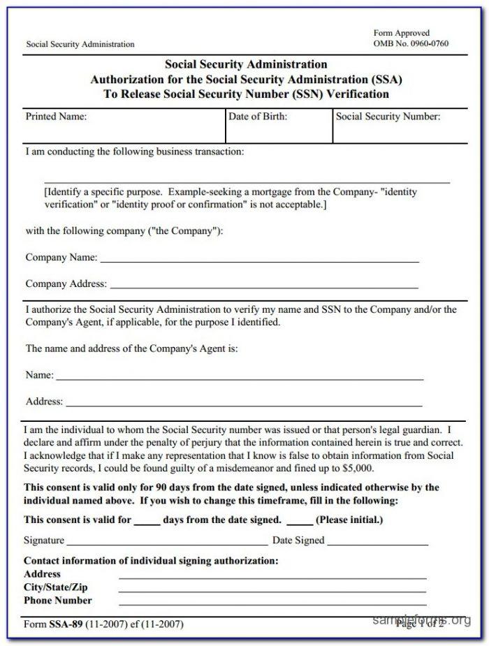 Social Security Ss5 Printable Form