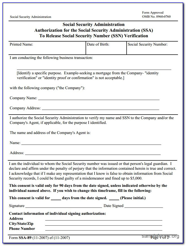 Social Security Ss5 Printable Form