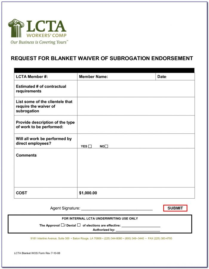 Sole Proprietor Workers Comp Waiver Form Arizona