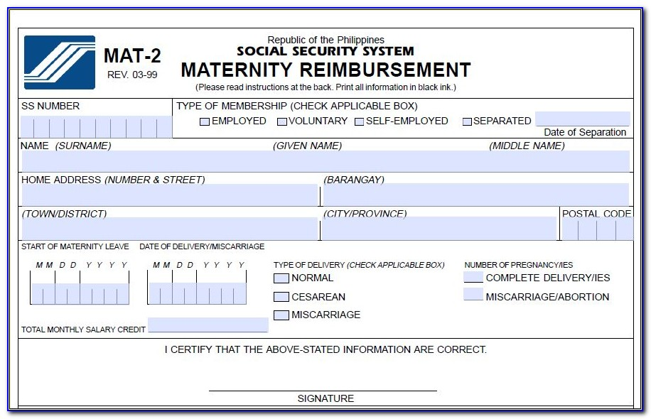 Sss Disability Form Latest