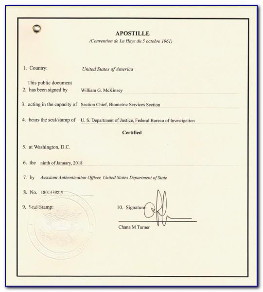 State Department Apostille Form