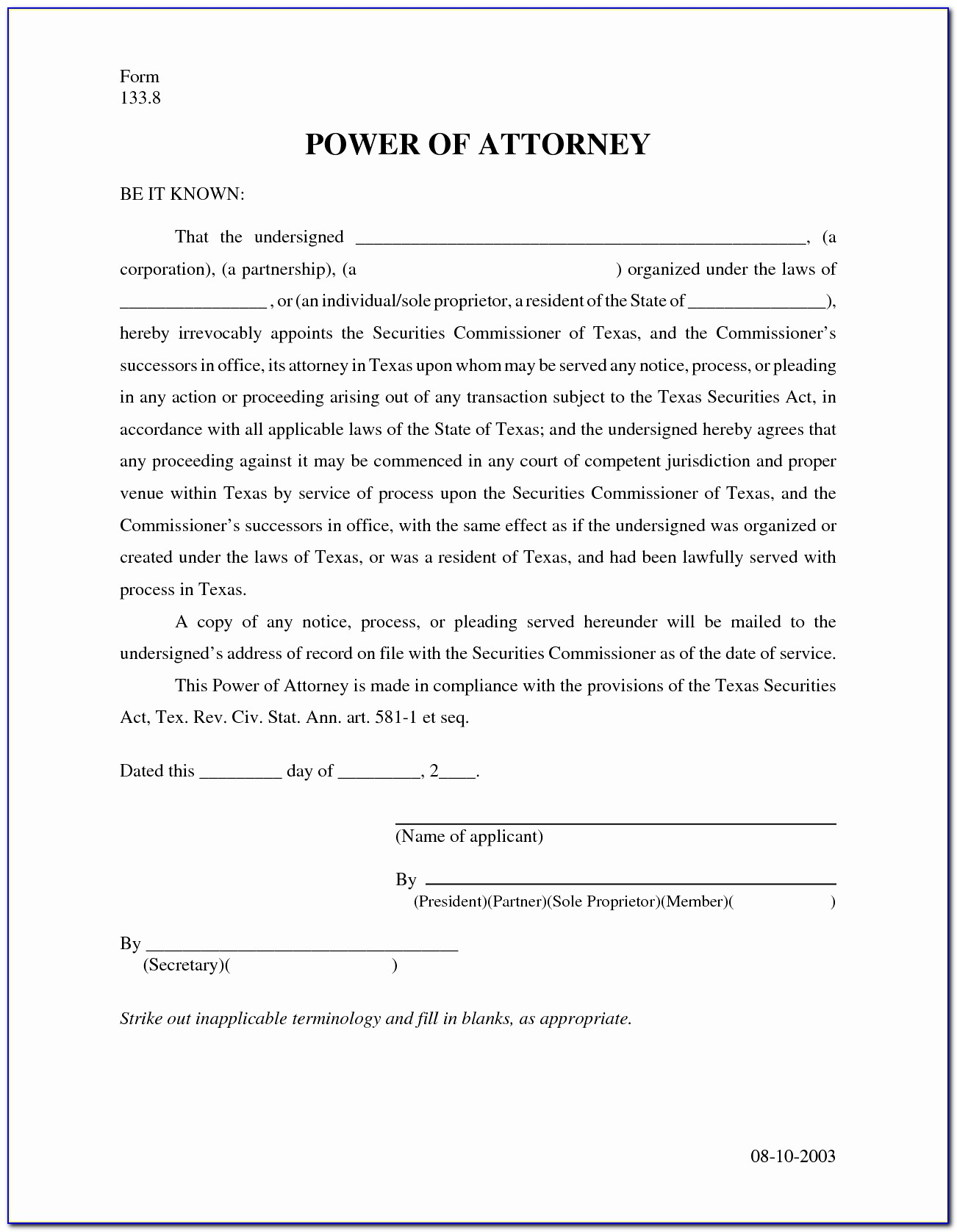 Texas Limited Power Of Attorney Form Luxury General Power Attorney Form Georgia Beautiful Form Durable Power