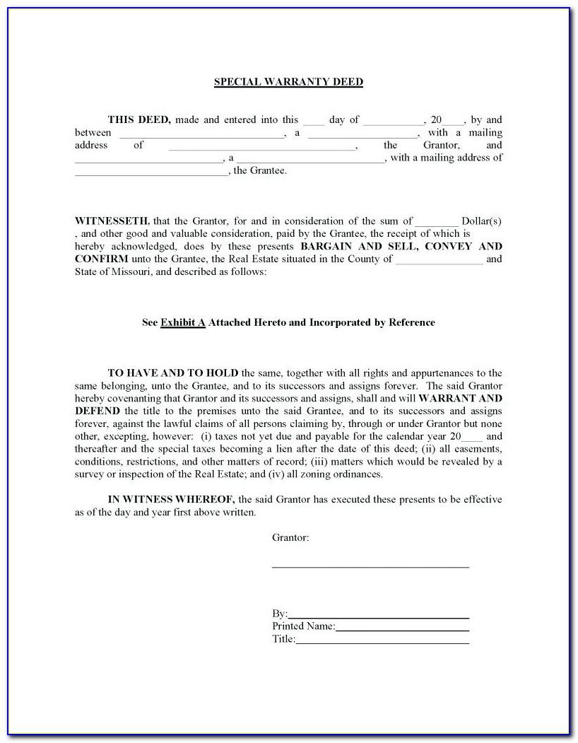 Statutory Warranty Deed Florida Form
