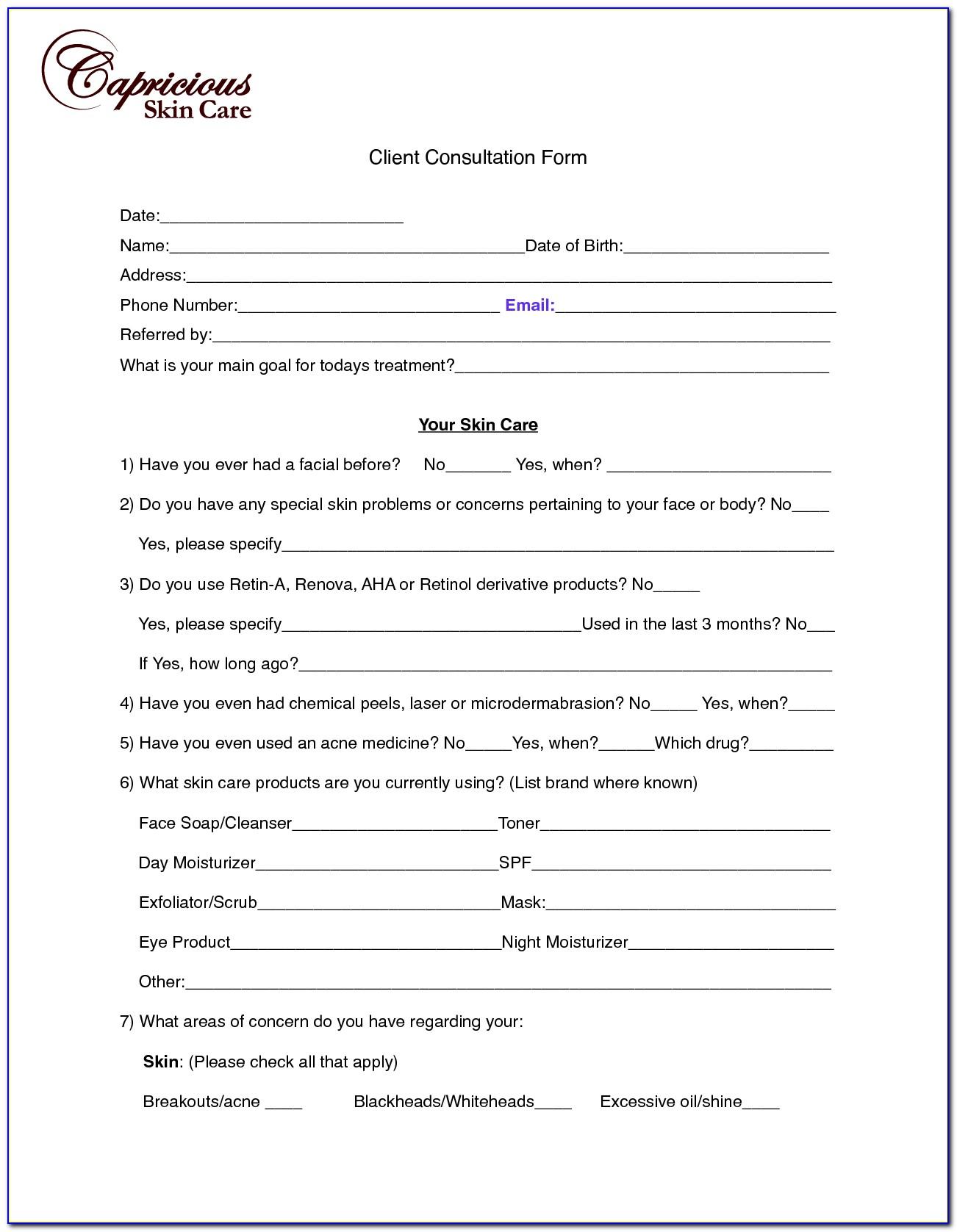 Tca Chemical Peel Consent Form