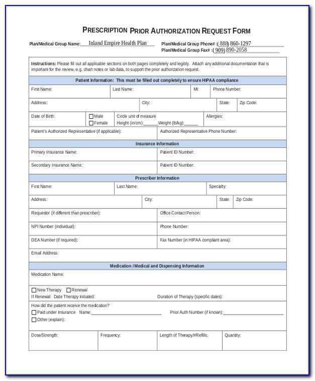 Therapy Medicare Advantage Prior Authorization Forms