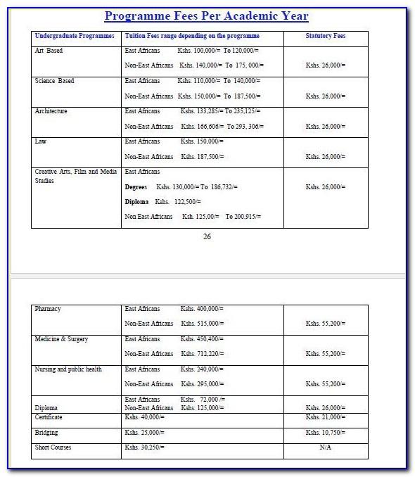 University Of Nairobi Masters Programmes Application Forms