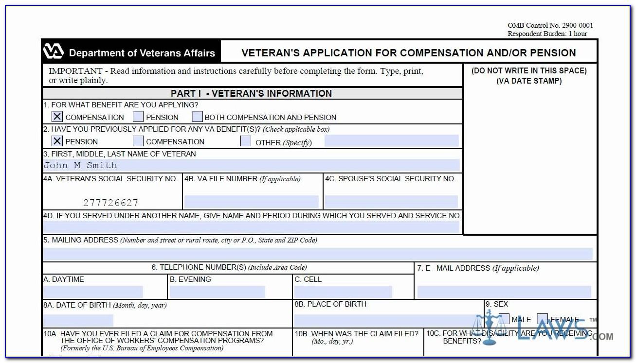 Va Claim Forms Online