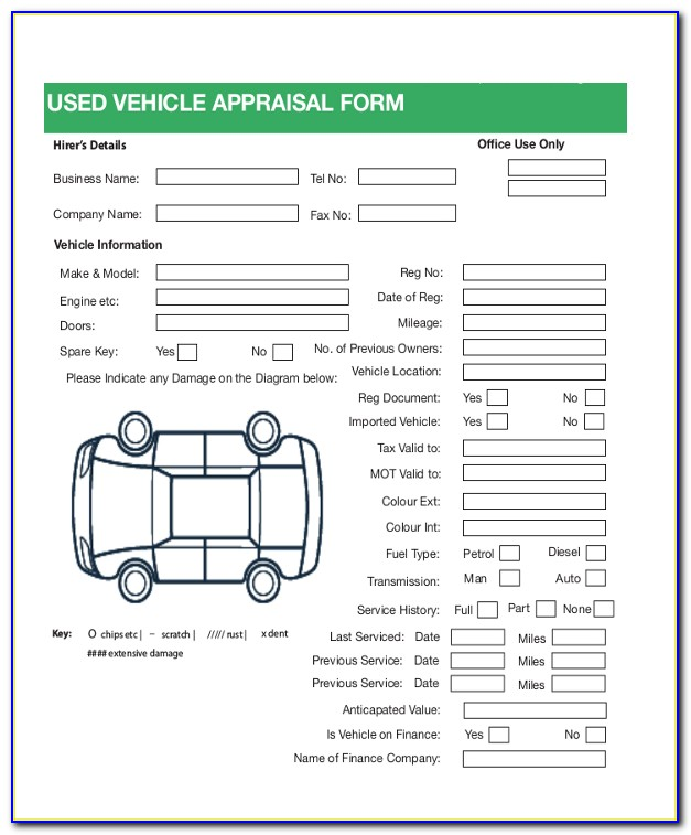 Vehicle Appraisal Form