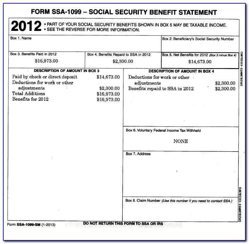 View Form Ssa 1099 Online
