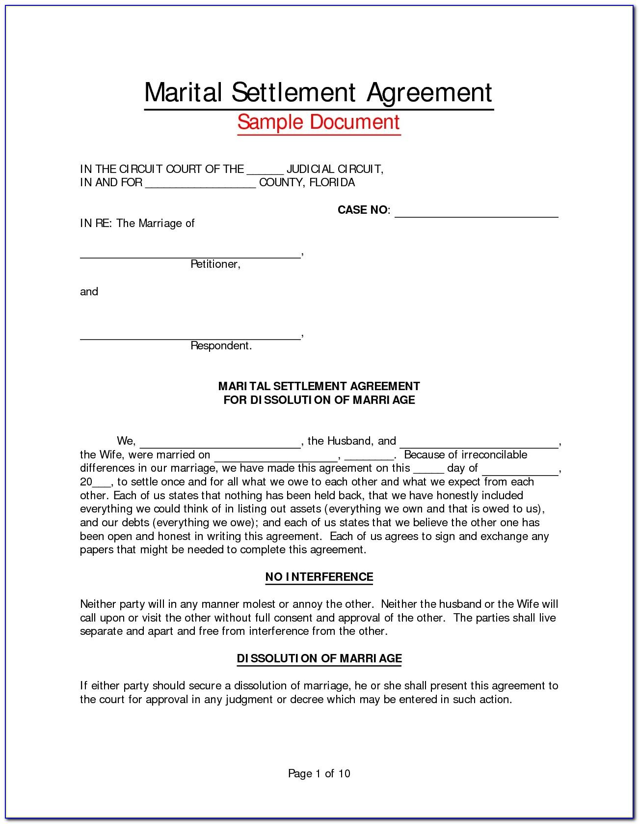 Virginia Separation Agreement Form Free