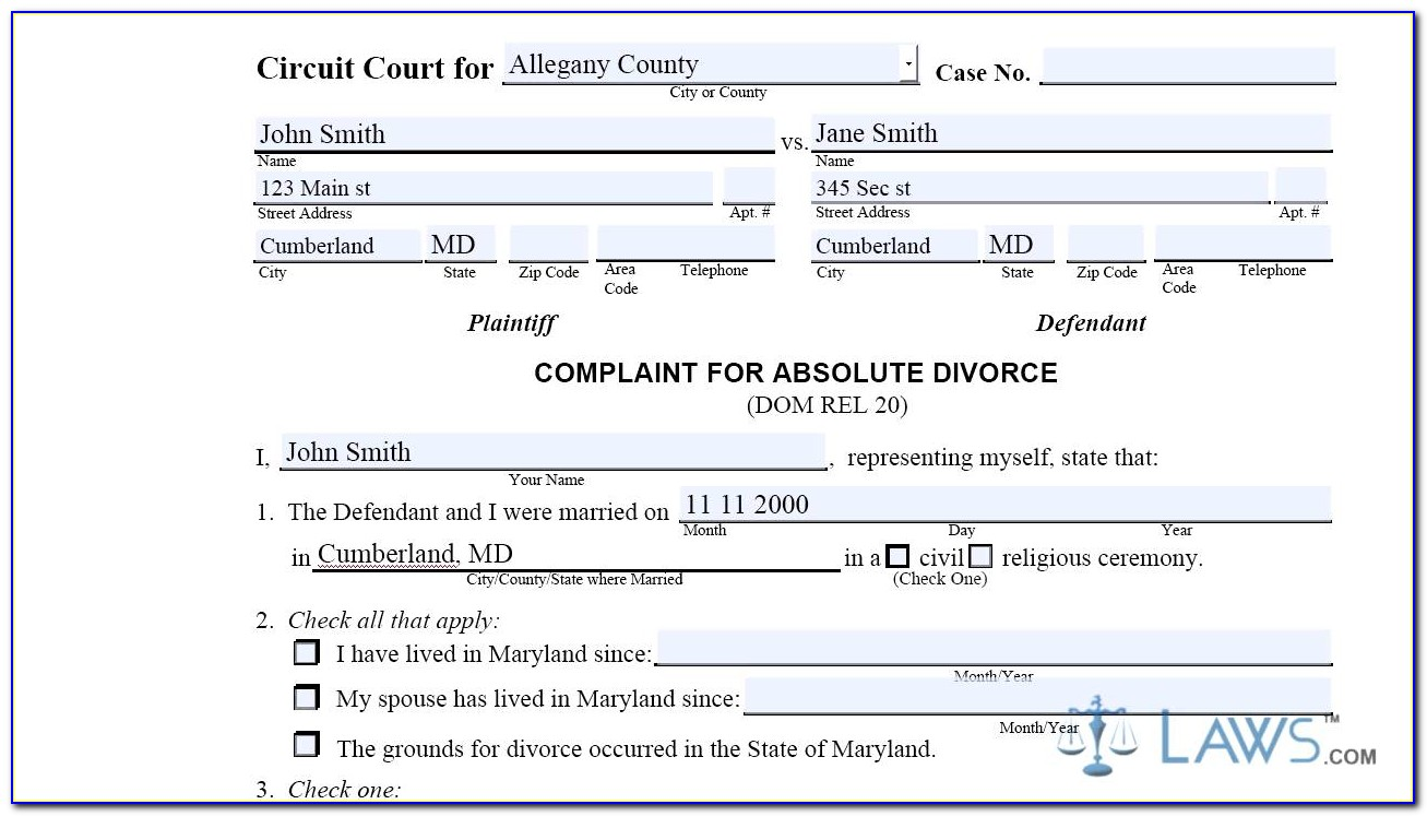 Wake County Nc Absolute Divorce Forms
