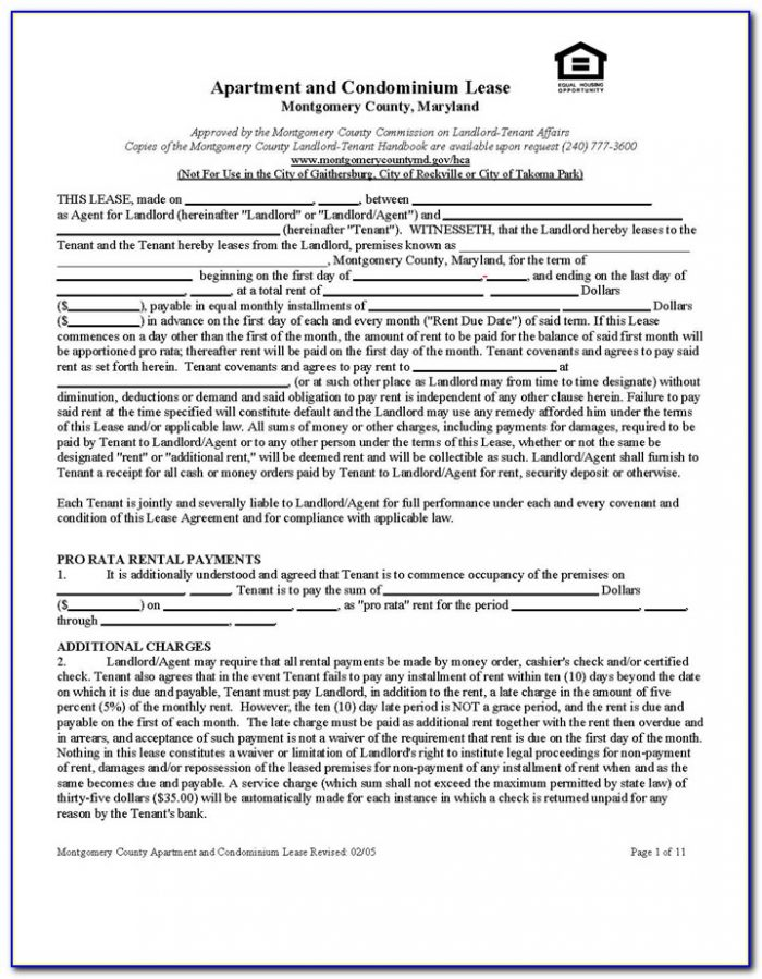 Washington State Landlord Tenant Agreement Form