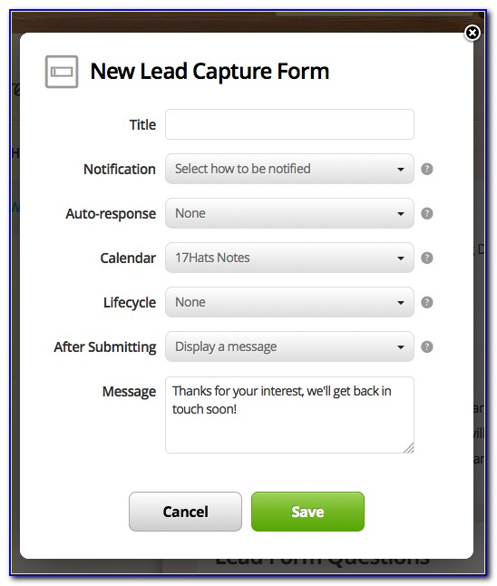 Website Lead Capture Forms