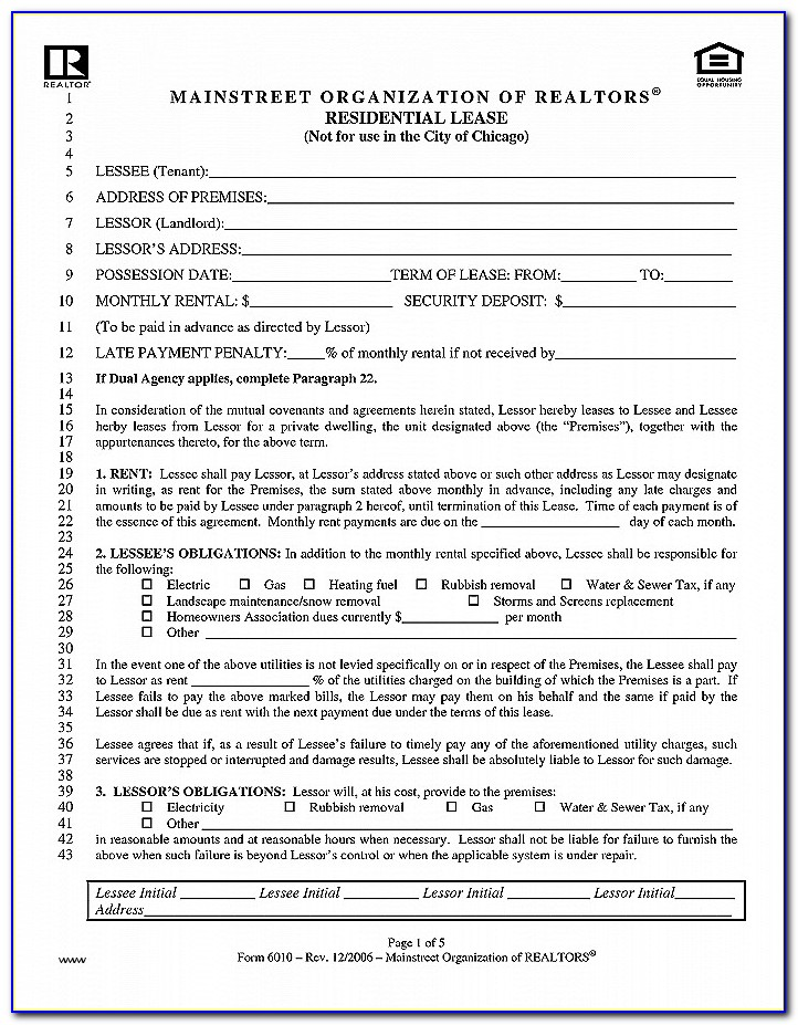 Where Can I Get A Commercial Lease Agreement Form