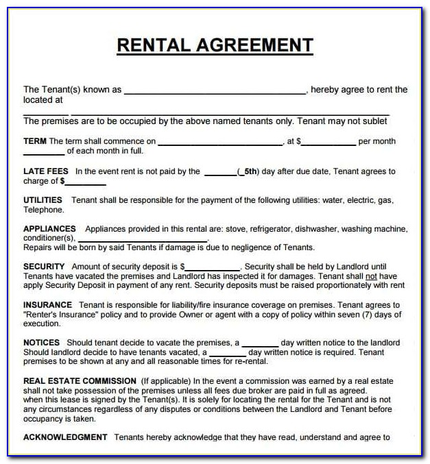 Where Can I Get A Lease Agreement Form