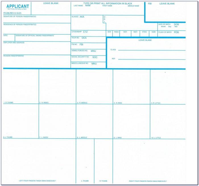Where To Get Standard Fingerprint Form Fd 258