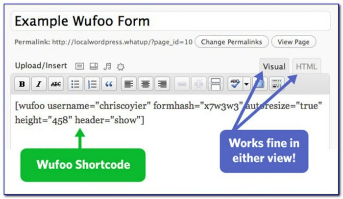 Wufoo Forms Wordpress Plugin