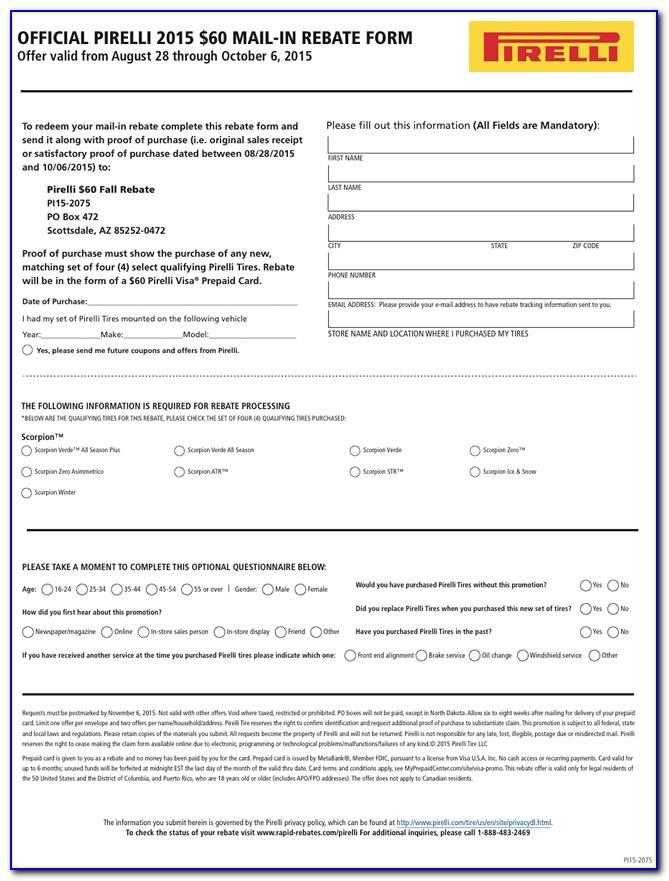 Yokohama Mail In Rebate Form 2018