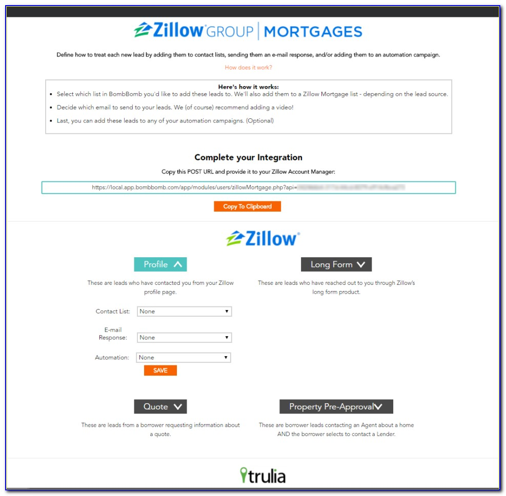 Zillow Long Form Mortgage Leads