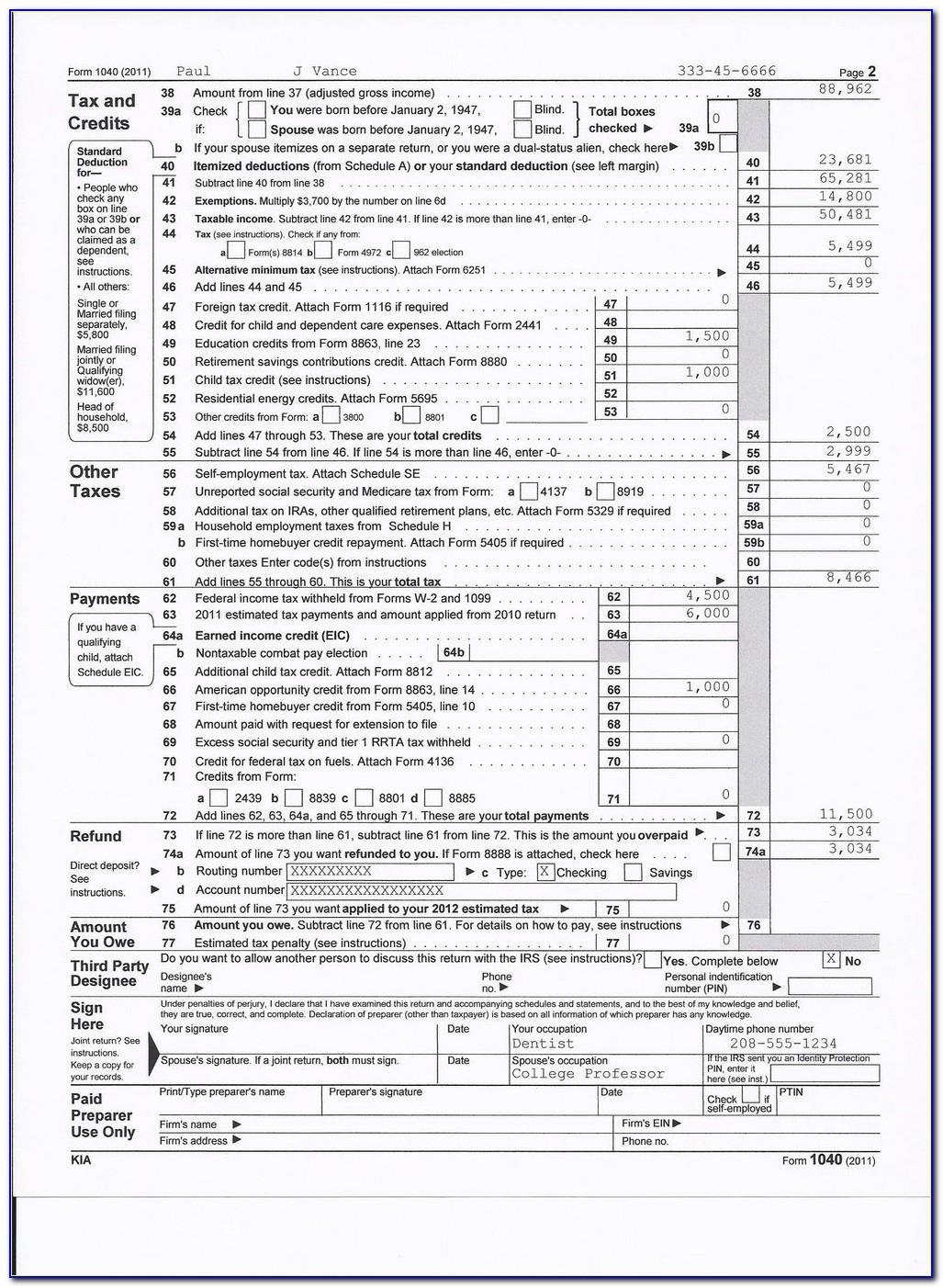 1040ez Federal Tax Form Mailing Address