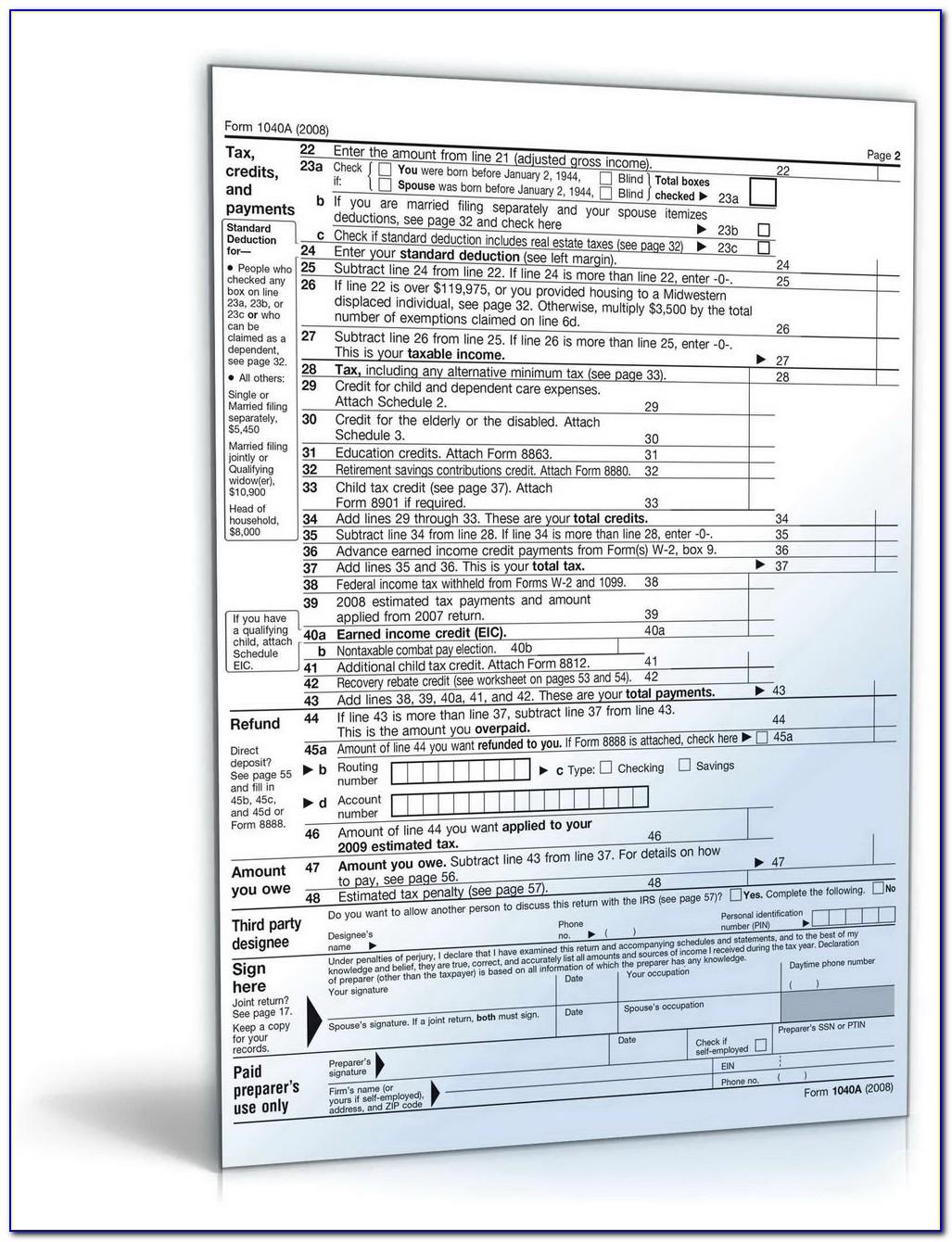 1040ez Tax Form Definition