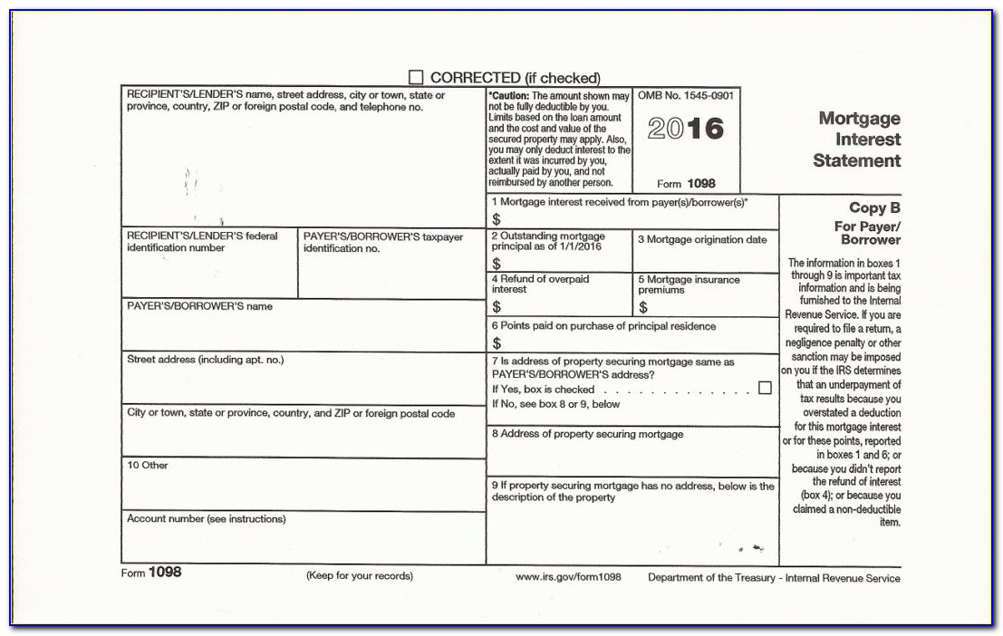 1098 Laser Tax Forms