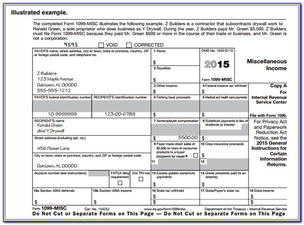 1099 Correction Form 2015