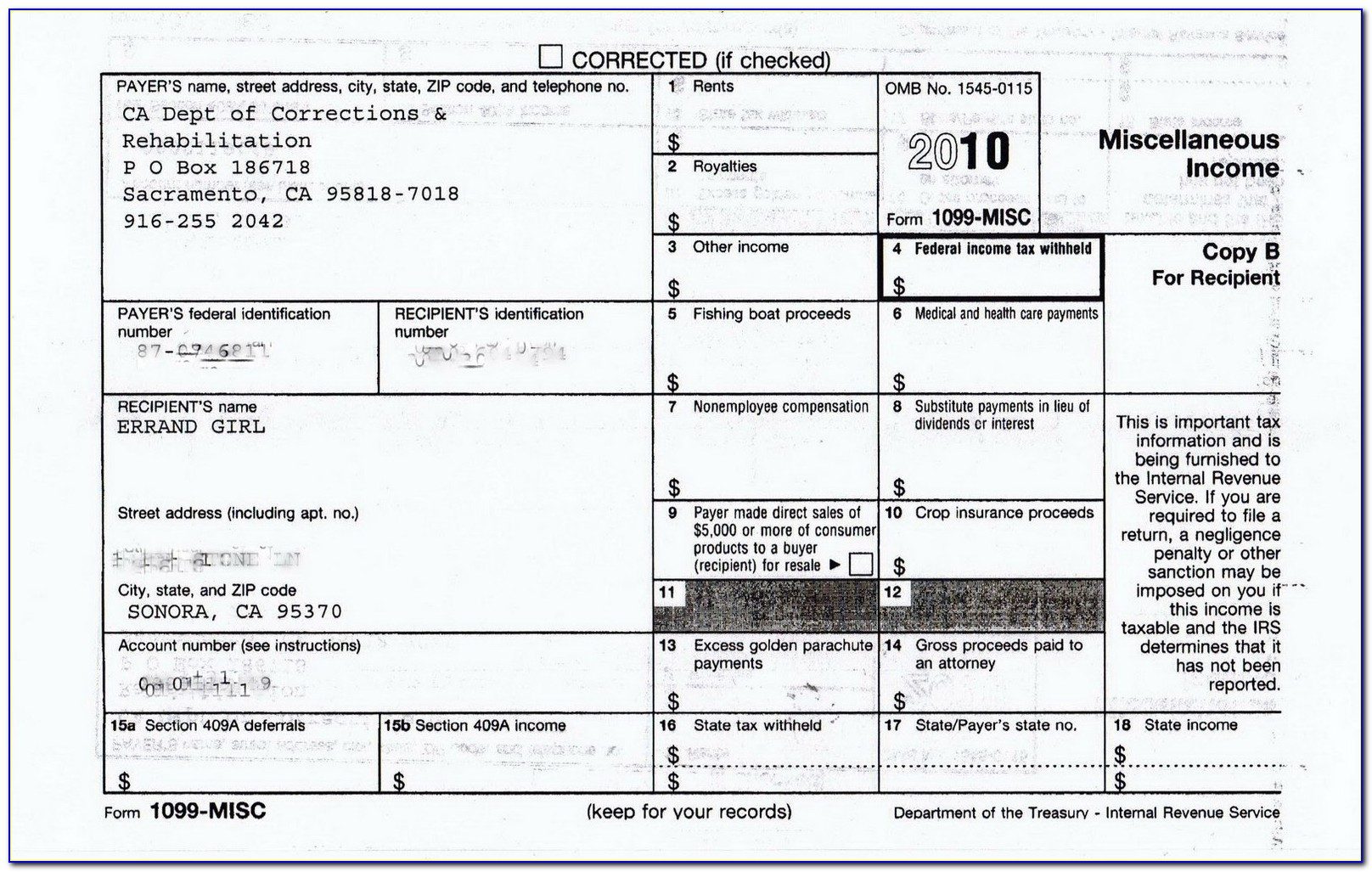 1099 Form Irs Instructions
