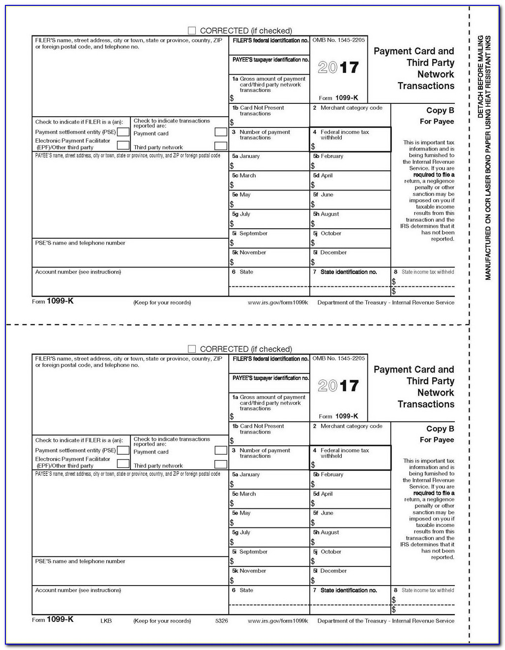 1099 Misc Fillable Form