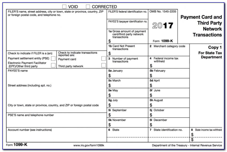 1099 Tax Filing Form