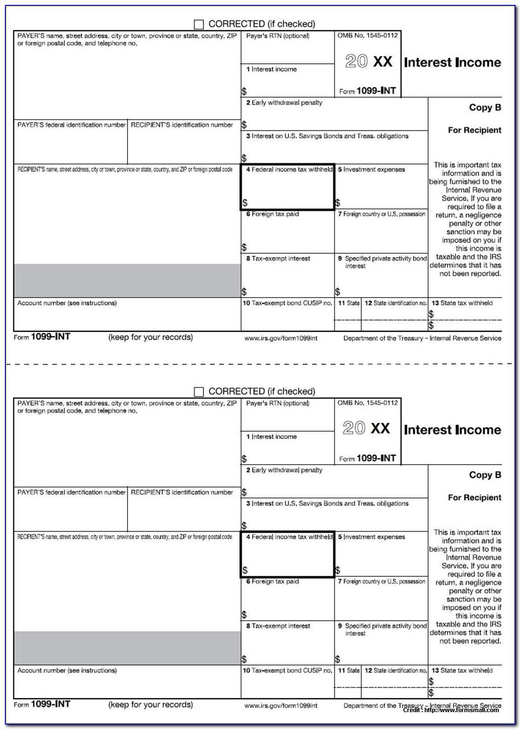 1099 Tax Form Printable 2017