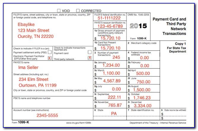 1099 Tax Return Form