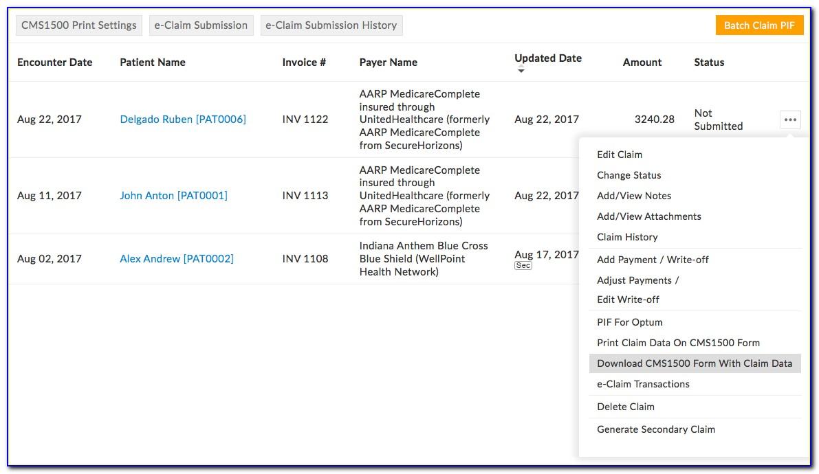 Aarp Hospital Claim Forms
