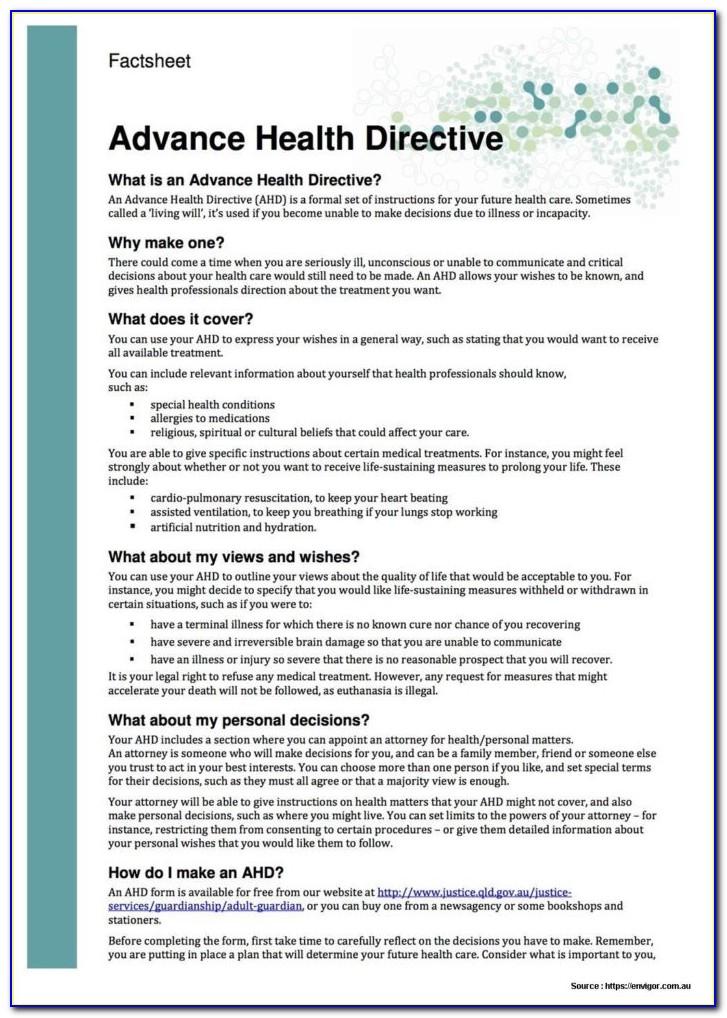 Advance Directives Ontario Form