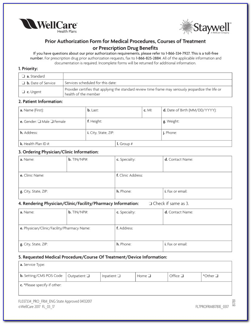 Aetna Medicare Prior Auth Form For Medication