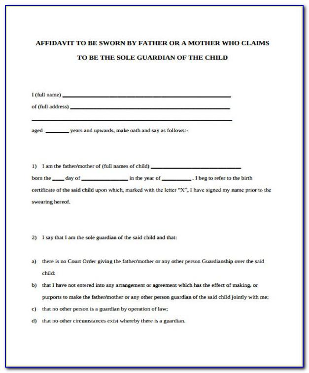 Affidavit Form For Immigration I 751