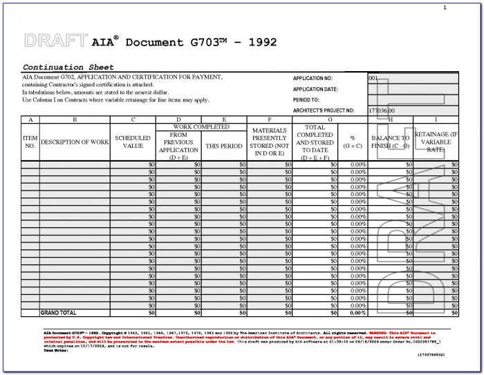 Aia Document G702 Pdf Form