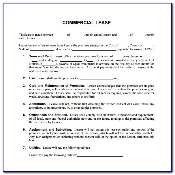 Air Commercial Real Estate Forms Free