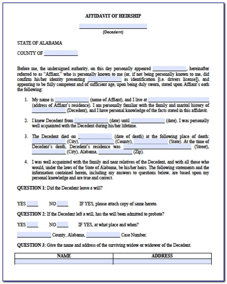 Alabama Legal Guardianship Forms