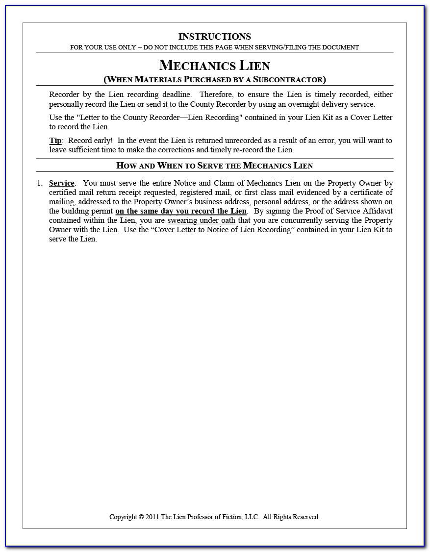 Alabama Release Of Mechanic's Lien Form