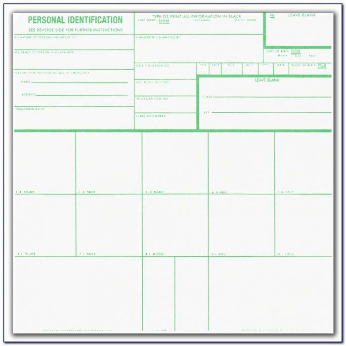 Applicant Fingerprint Card Form Fd 258