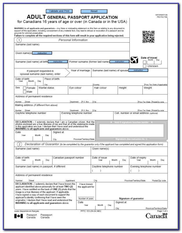 Application For Australian Passport Renewal Form