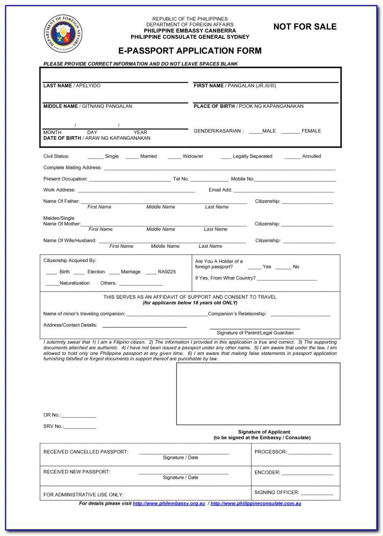 Application For Nz Passport Renewal Form