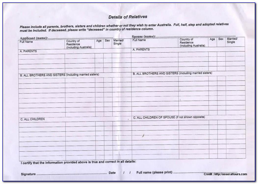Australian Visitor Visa Application Form 1415 New Tourist Visa To Australia From India Application Form 1418 Ltt