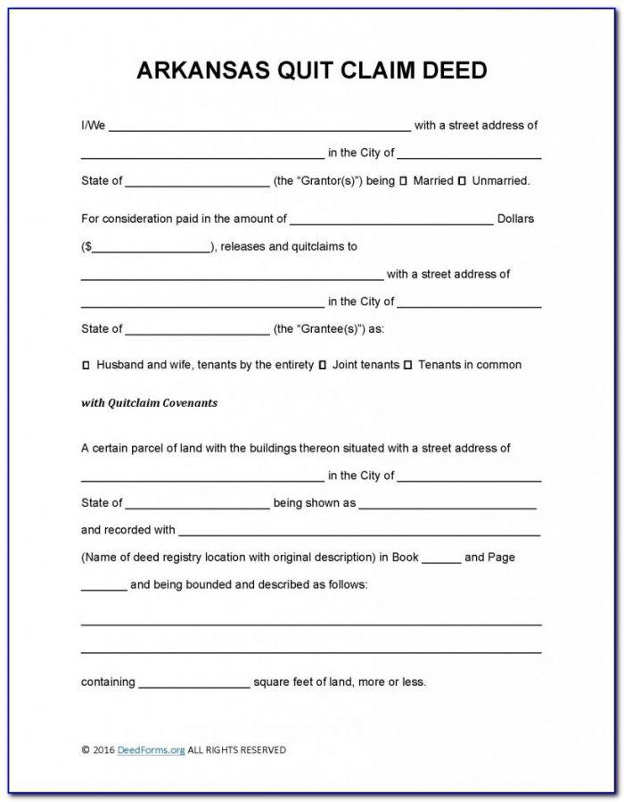 quick claim deed form arkansas  Quit Claim Deed Form Arkansas - Form : Resume Examples ...