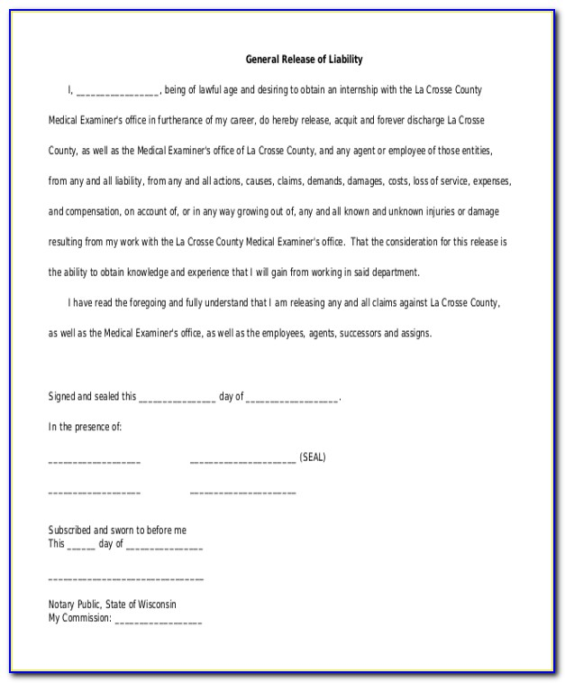 Auto Accident Release Form Texas