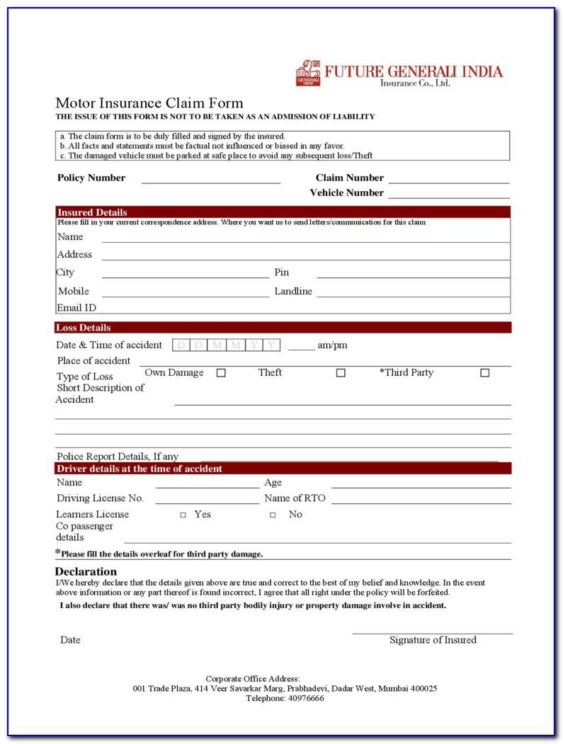 Auto Insurance Verification Form Template
