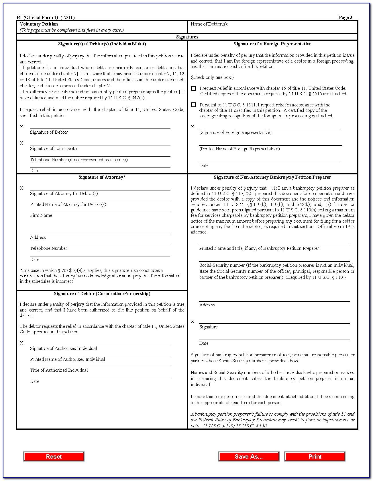 Bankruptcy Petition Form Hong Kong