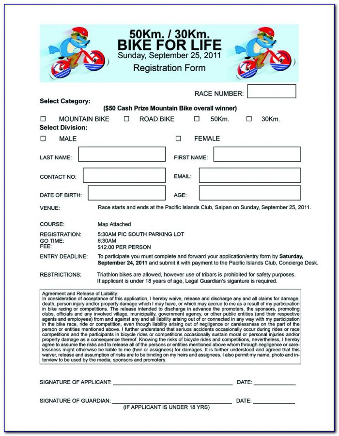 Bike Rodeo Waiver Form