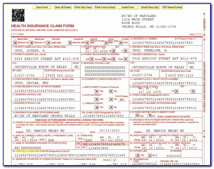 Free Cms 1500 Claim Form Template 26 Elegant Cms 1500 Claim Form Pdf Free